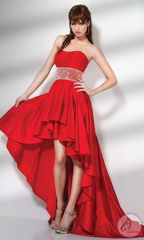 Kırmızı Abiye Elbise Modelleri