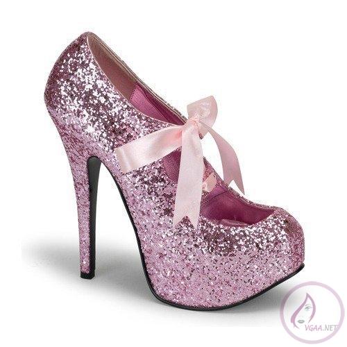 Pembe Topuklu Ayakkabı