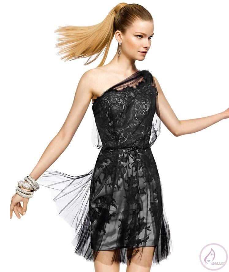 2014 Siyah Abiye Elbise Modelleri