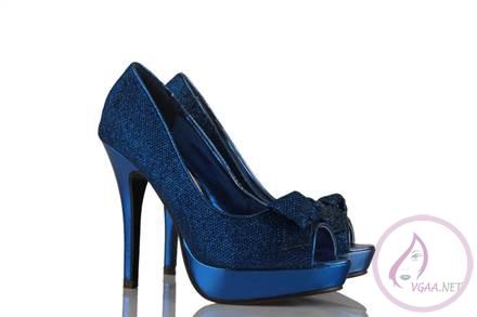 Gece Mavisi Topuklu ayakkabı modelleri