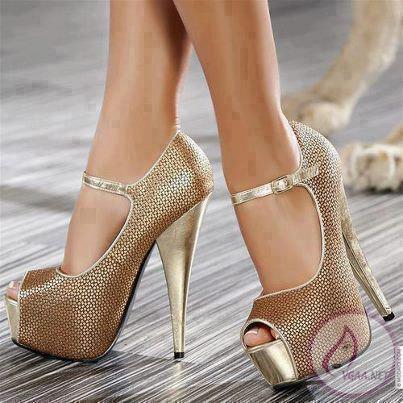 Taşlı Yüksek Topuklu Ayakkabı Modelleri