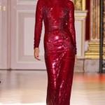 Taşlı Uzun Kırmızı Abiye Elbise Modelleri