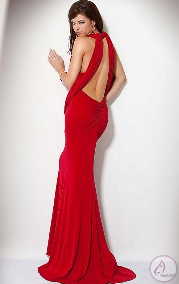 Sırt Dekolteli Kırmızı Abiye Elbise Modelleri