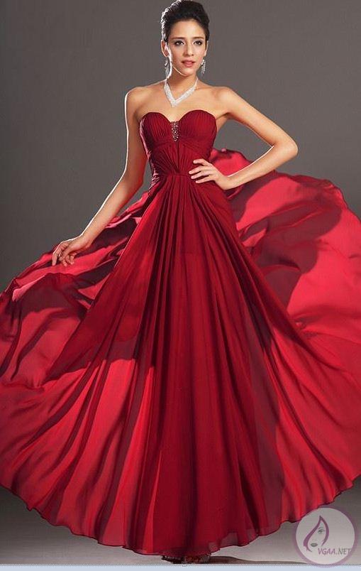 Prenses Kırmızı Abiye Elbise Modelleri