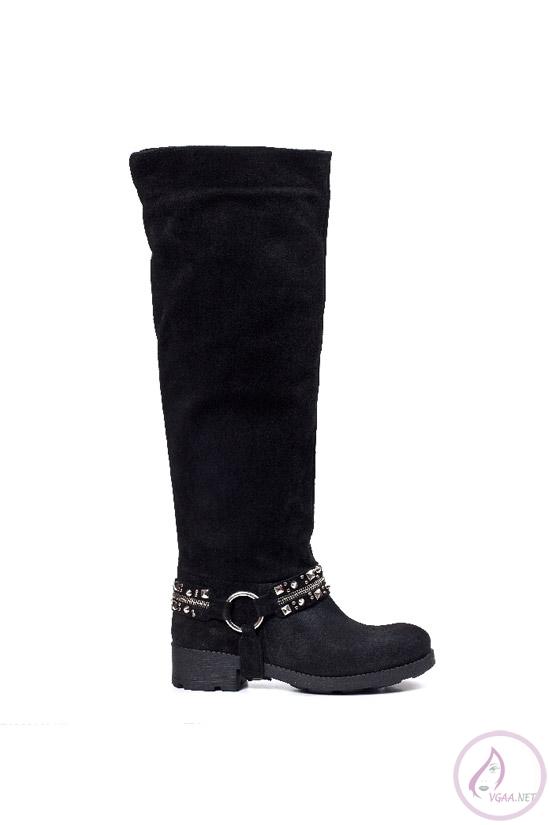 Siyah Deri Çizme Modelleri
