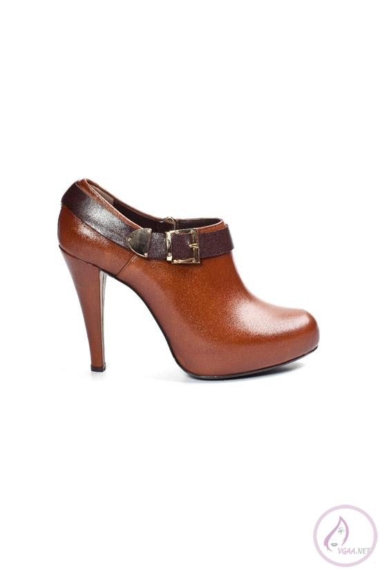 Kahverengi  Deri Kısa  Çizme Modelleri