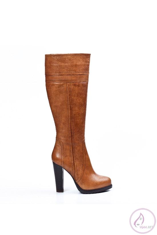 Kahverengi  Deri Çizme Modelleri