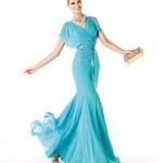 2014 Mavi abiye elbise modelleri