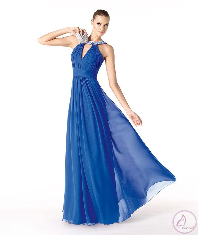 mavi renk abiye elbise modelleri