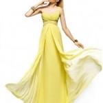 Sarı Abiye elbise modelleri 2014-14
