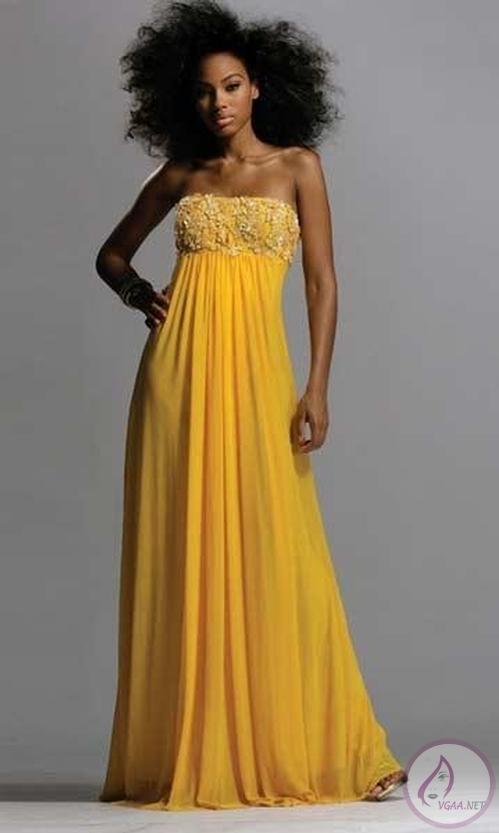 cec461d86f355 Sarı Abiye elbise modelleri 2014-20 - Vgaa.Net