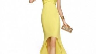 Sarı Abiye Elbise Modelleri
