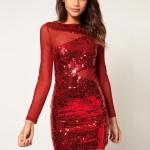 Mini Kırmızı Abiye Elbise Modelleri