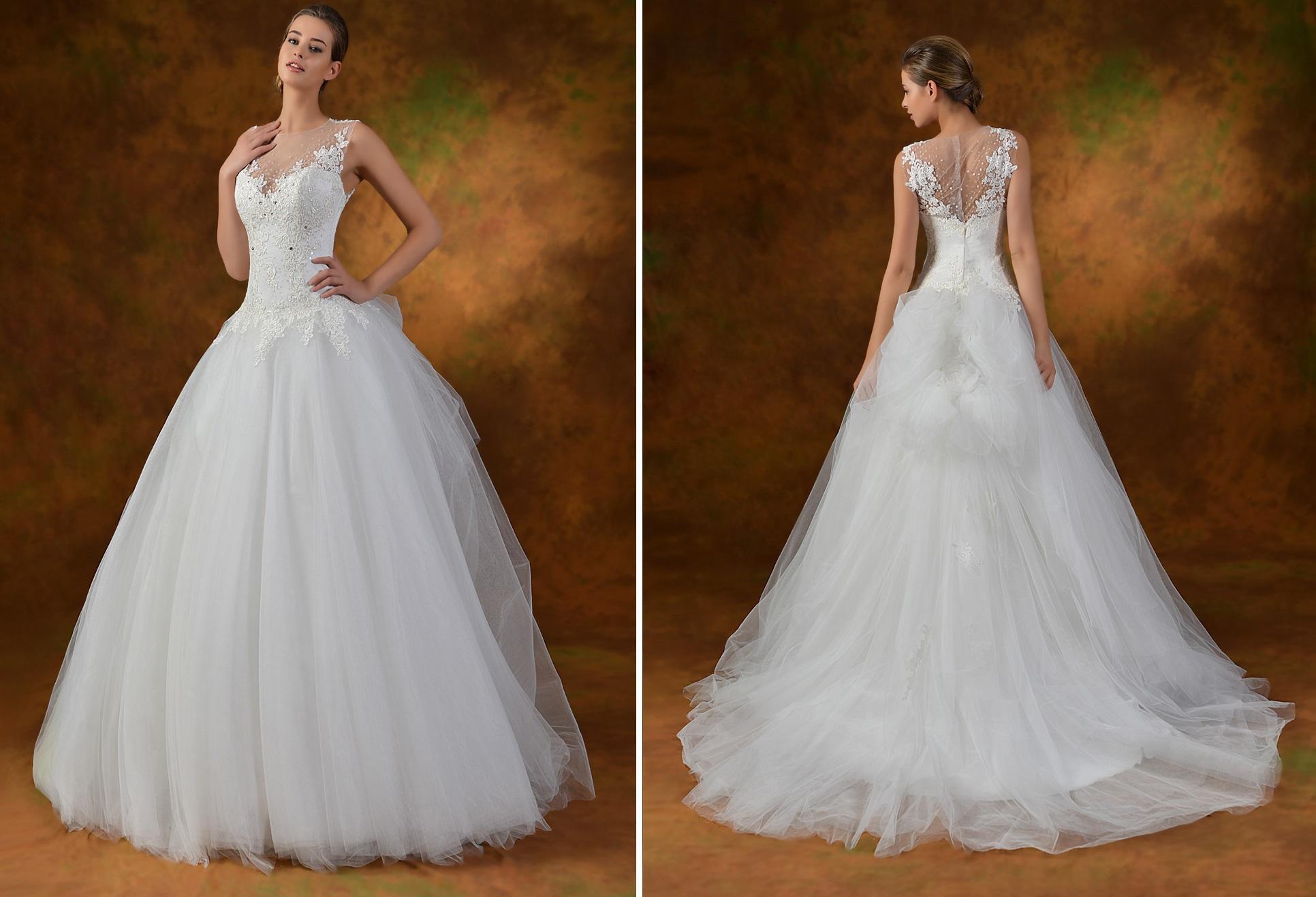 straplez prenses gelinlik modelleri 2014