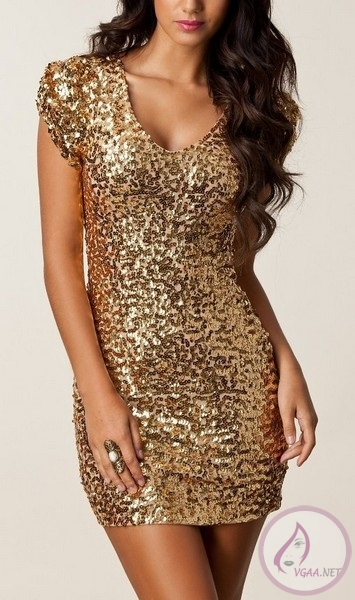 Payetli Abiye Elbise Modelleri 2014