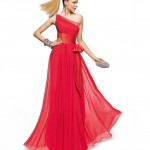 Tek Omuz Kırmızı Abiye Elbise Modelleri