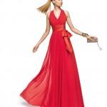 uzun Kırmızı Abiye Elbise Modelleri 2014