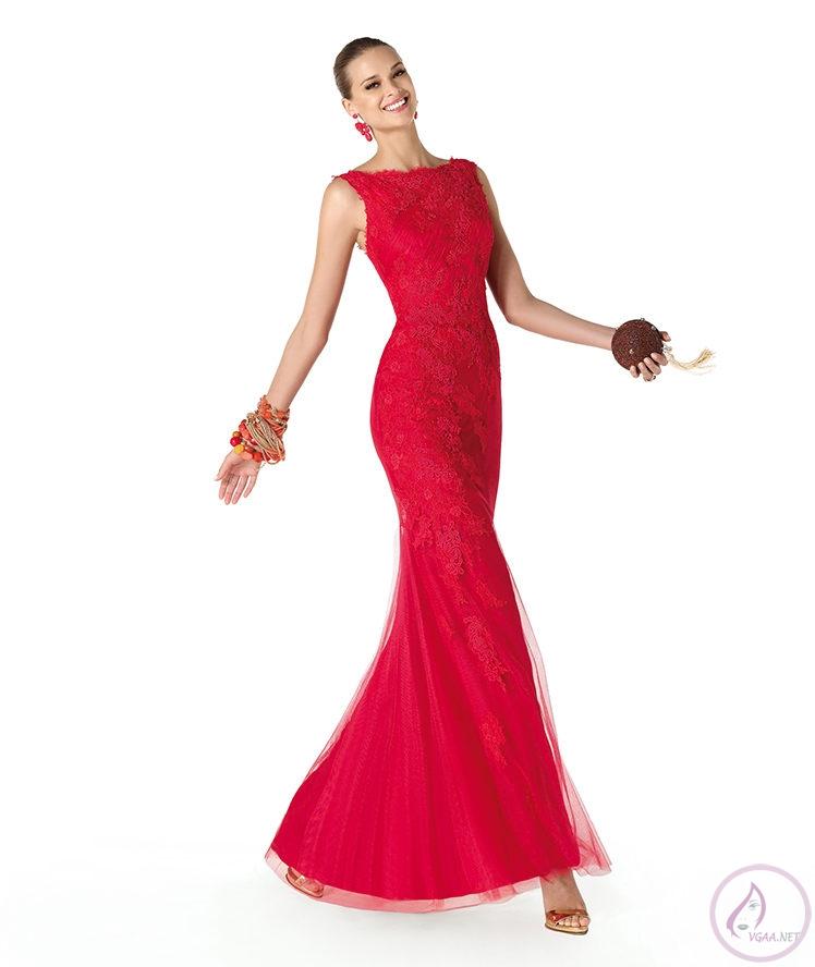 uzun Kırmızı Abiye Elbise Modelleri