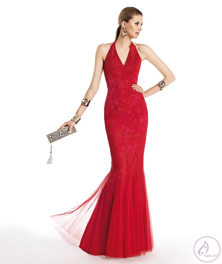 Taşlı Kırmızı Abiye Elbise Modelleri