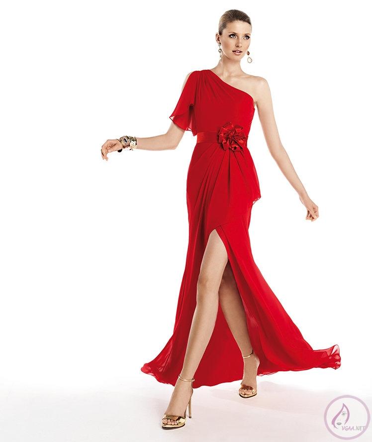 Yırtmaçlı Uzun Kırmızı Abiye Elbise Modelleri