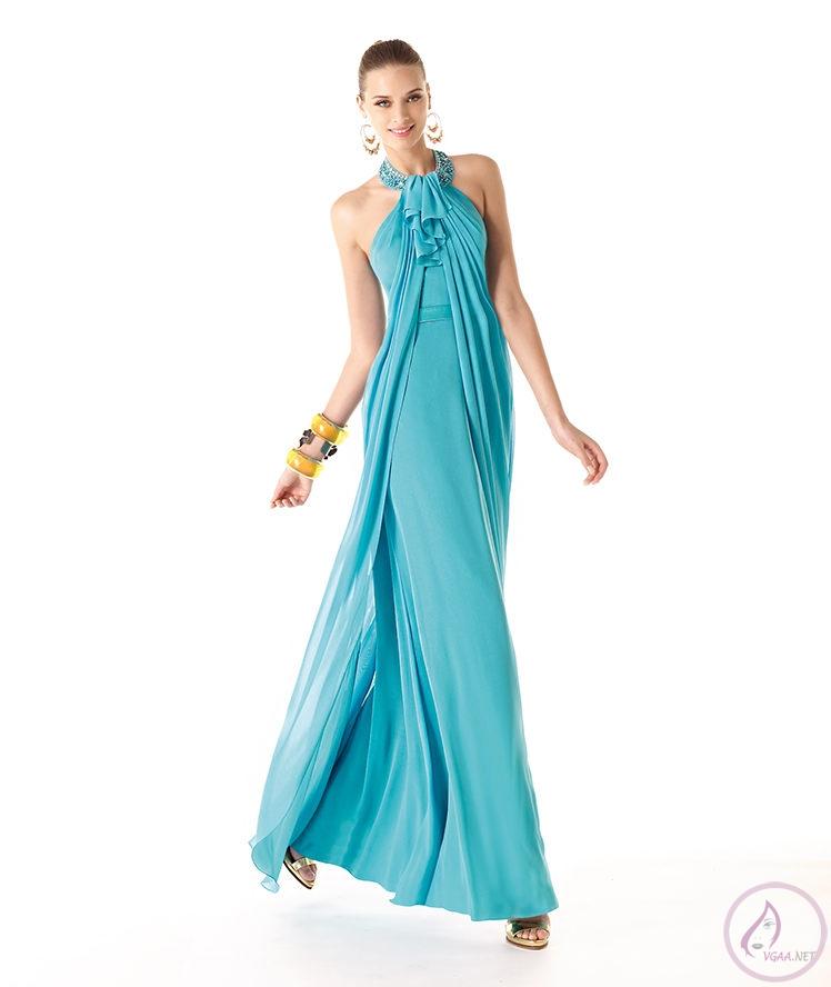 Mavi abiye elbise modelleri1