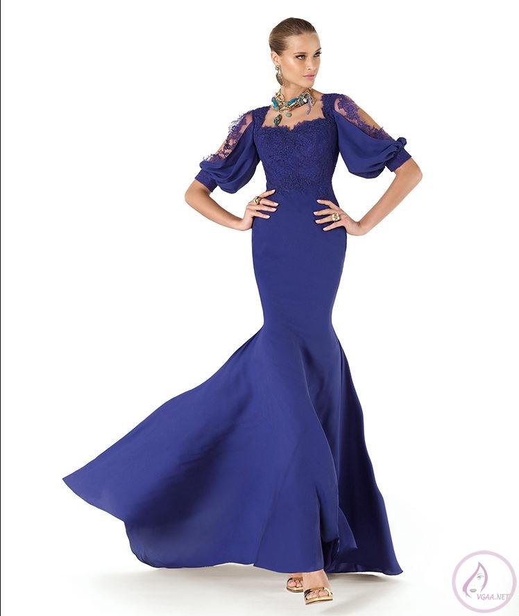 Mavi abiye elbise modelleri11