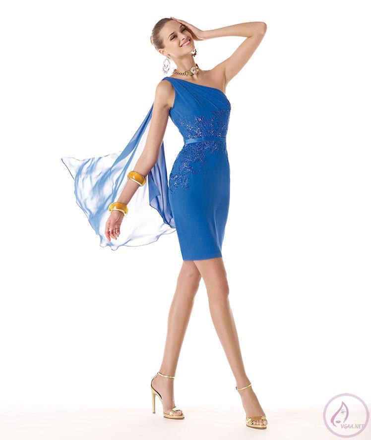 Mavi abiye elbise modelleri14