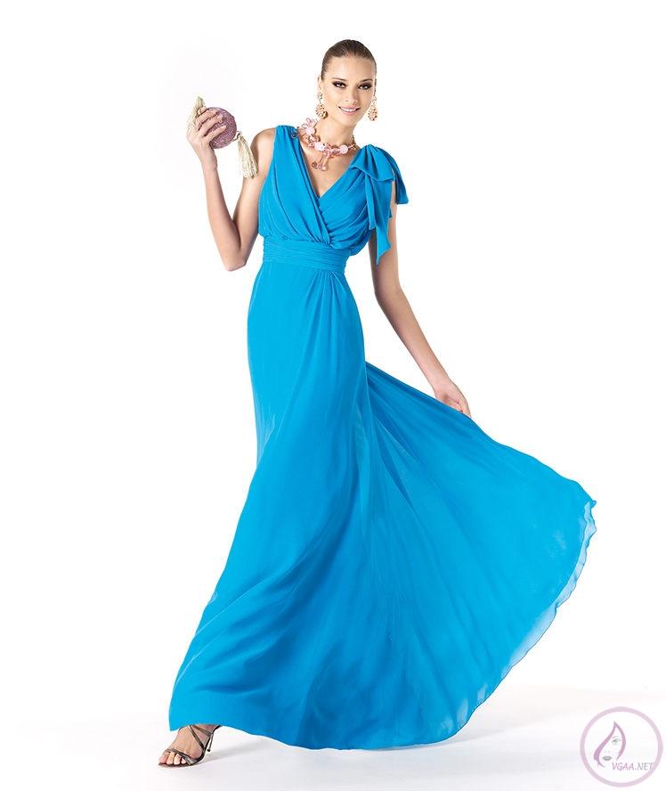 Mavi abiye elbise modelleri15