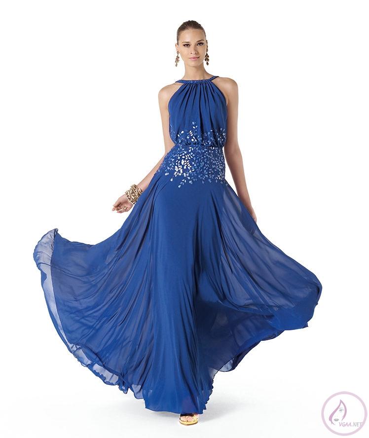 Mavi abiye elbise modelleri16