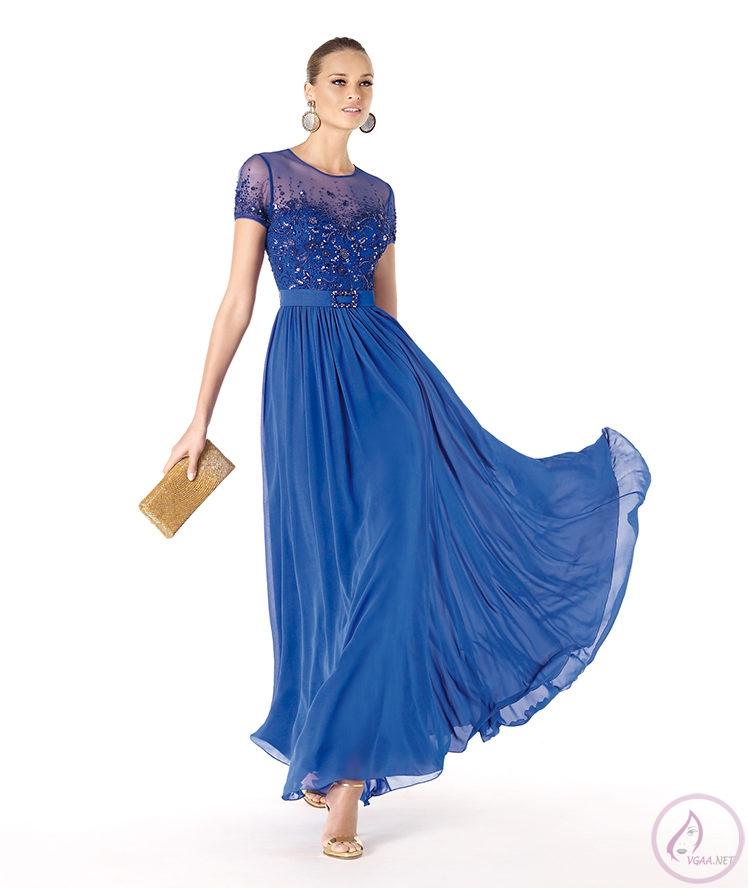 Mavi abiye elbise modelleri17