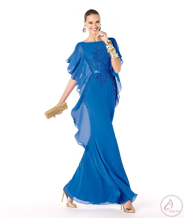 Mavi abiye elbise modelleri18
