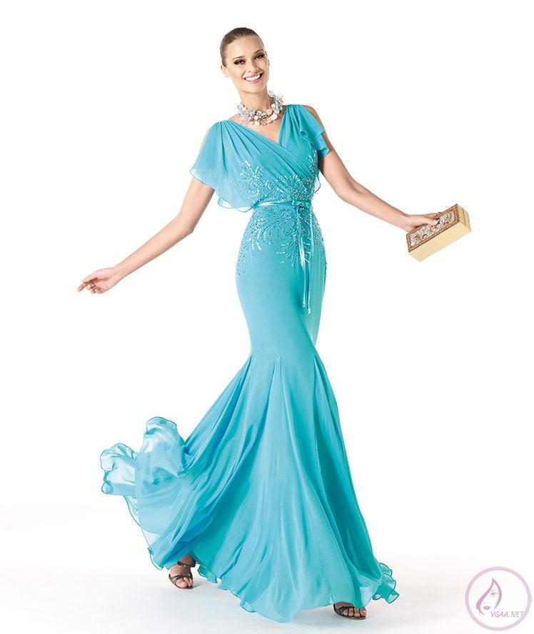 Mavi abiye elbise modelleri19
