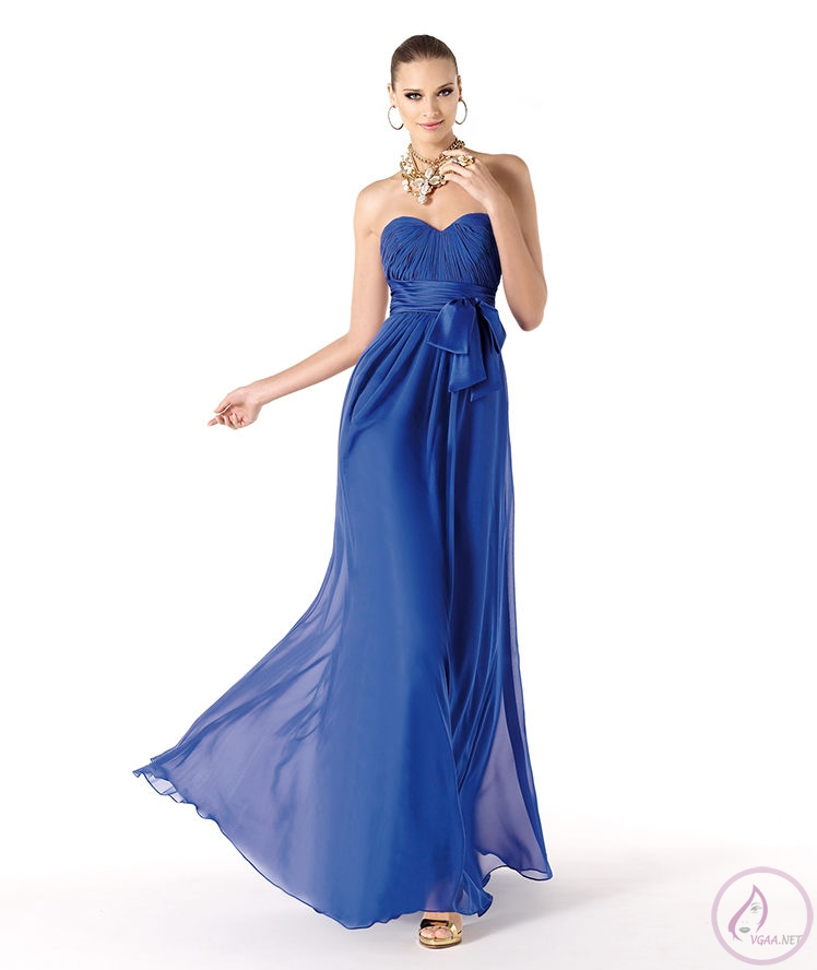 Mavi abiye elbise modelleri20