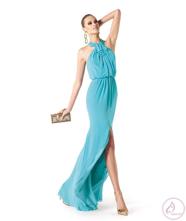 Mavi abiye elbise modelleri21