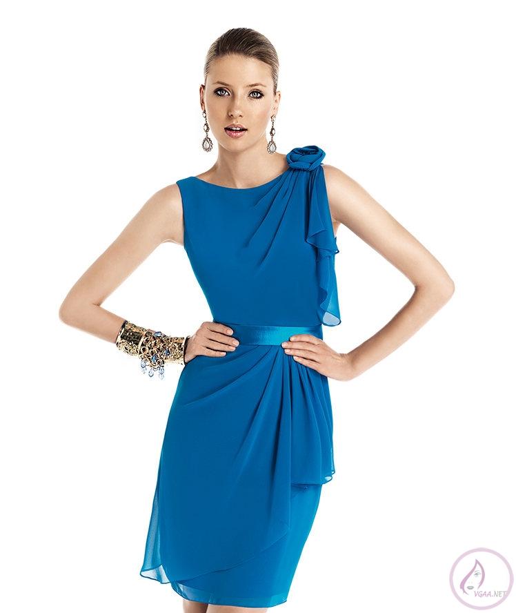 Mavi abiye elbise modelleri22