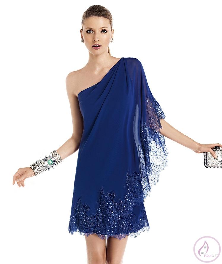 Mavi abiye elbise modelleri23