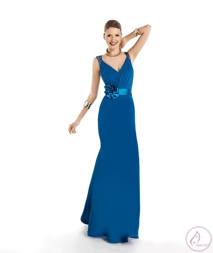 Mavi abiye elbise modelleri24