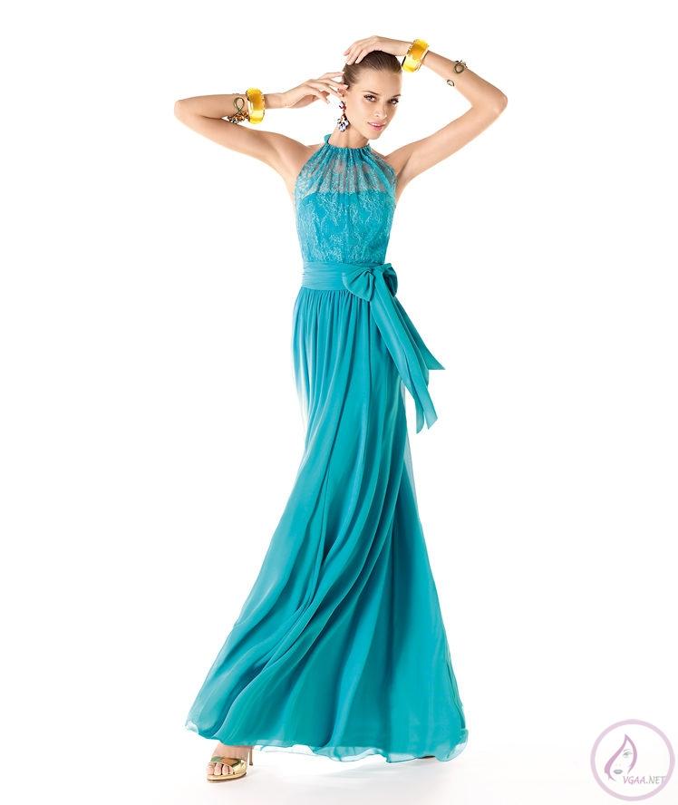 Mavi abiye elbise modelleri3