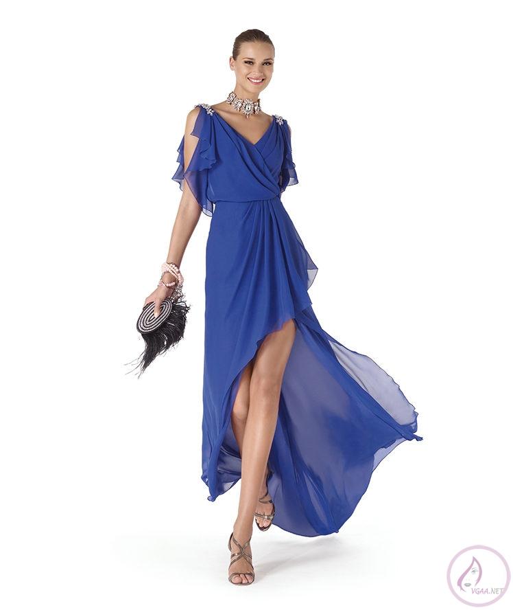 Mavi abiye elbise modelleri4