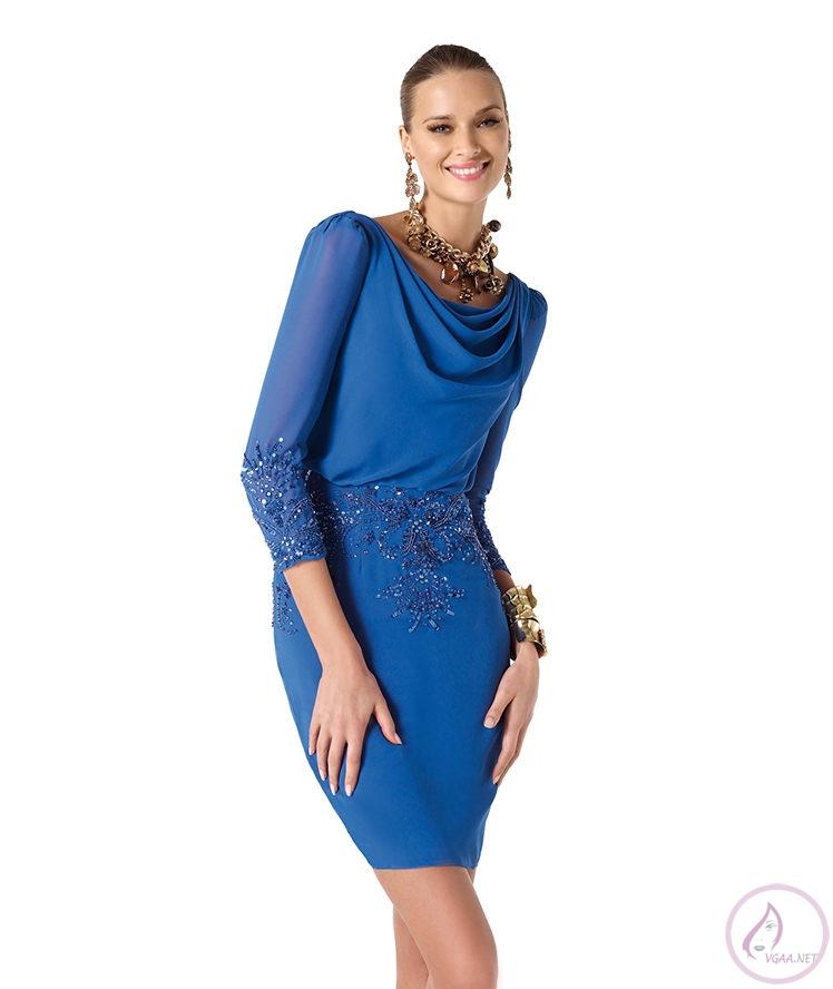 Mavi abiye elbise modelleri8