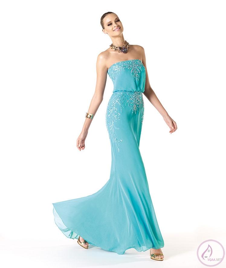 Mavi abiye elbise modelleri9
