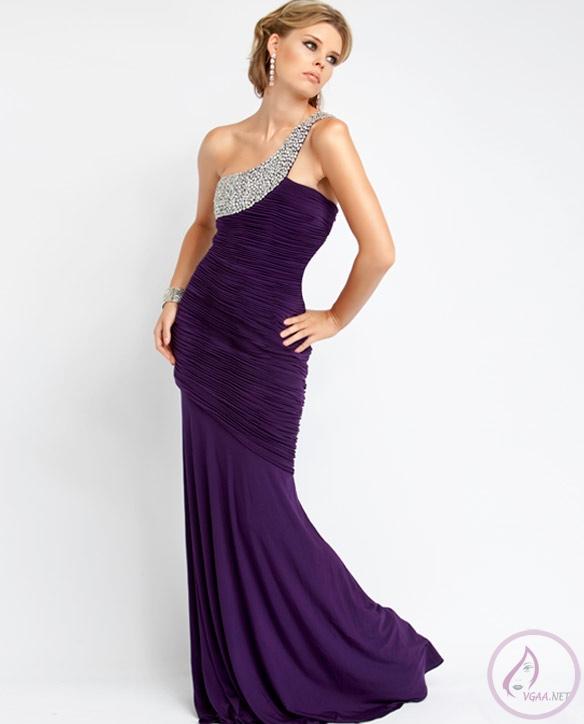 Mor-2014-Tek-Omuz-Abiye-Elbiseleri