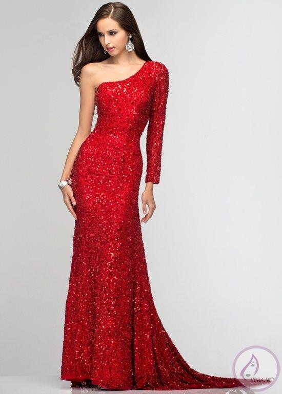 kırmızı-tek-omuzlu-parlak-simli-abiye-elbise1