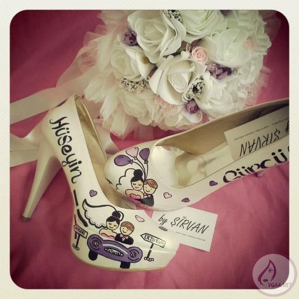 karikatürlü-gelin-ayakkabısı-modeli