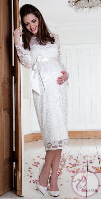 dantel-abiye-hamile-elbiseleri
