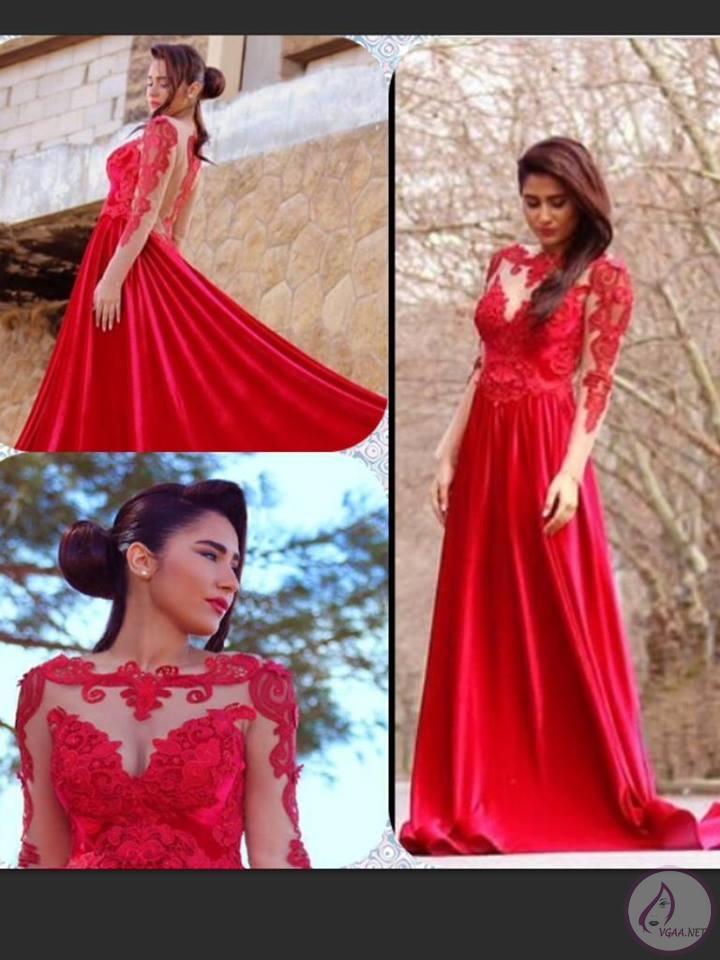 kırmızı-nişan-elbisesi